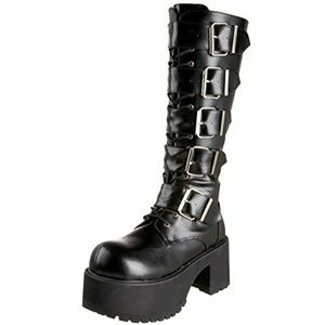 Demonia Ranger 318 Large Buckle Midcalf Gothic 10